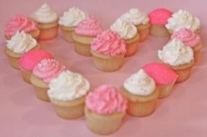 Pink Valentine's Day Cupcake Heart