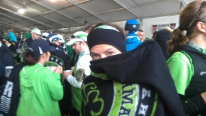 Shamrock Ninja...or just really cold half marathoner, you decide ;)